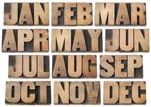 Calendar Concept - Months In W...
