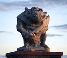 Sculpture Of A Gnome-troll Cre...