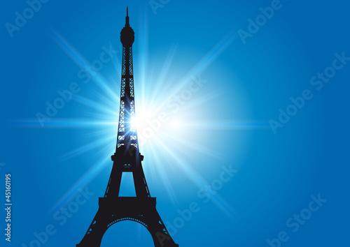 Tour_Eiffel_Soleil_Rayons Canvas Print