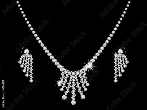 Diamond necklace Fototapeta