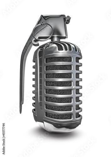 Etiqueta engomada - Microphone grenade