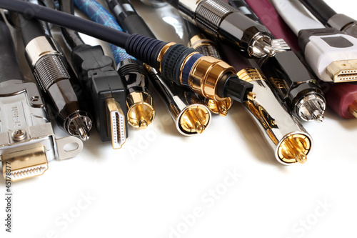 Fotografie, Obraz  Group  of audio/video cables