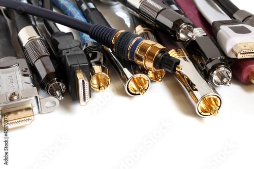 Fotografía  Group  of audio/video cables
