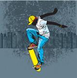 Fototapeta Młodzieżowe - Skateboarding