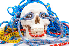 Fitness Gear And Human Scull
