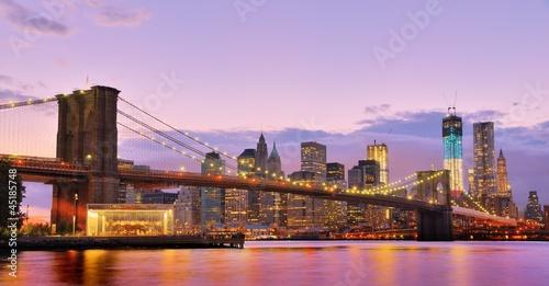 Obraz Brooklyn Bridge in New York city - fototapety do salonu