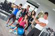 Group of People at Gym with Instructor