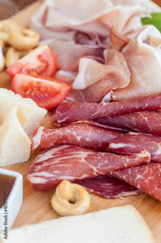 In de dag Voorgerecht Italian food on chopping board