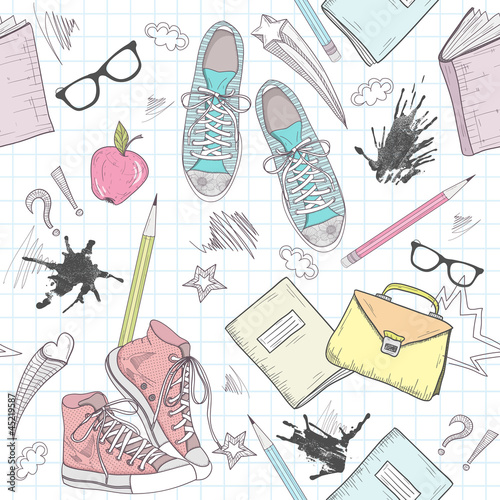 ladny-abstrakcyjny-wzor-szkoly-wzor-z-butami-torby