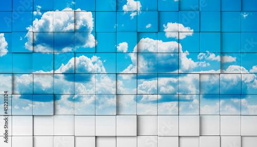 Papiers peints Ciel fondo 3d con cielo.