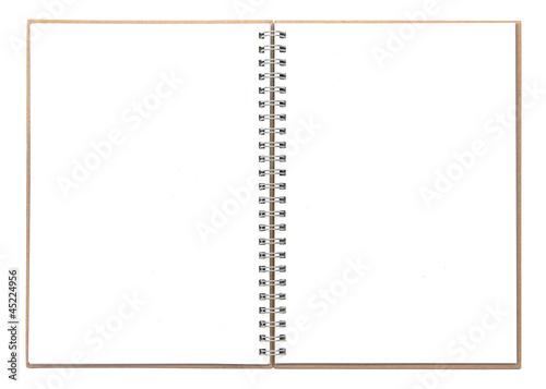 Printed kitchen splashbacks Spiral Ringbuch isoliert auf weiß mit Textfreiraum