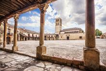 Plaza Mayor (Main Square) Of Pedraza Village, Segovia, Castilla
