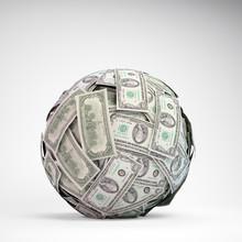 100 Dollar Bill Ball