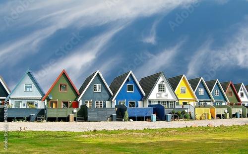 Poster Scandinavie Maisons scandinaves