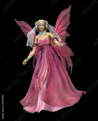 La pose en embrasure Fées, elfes Pink Magic CA