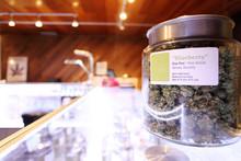 Medical Marijuana In Large Jar