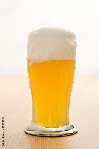 Photo wheat beer in a glass