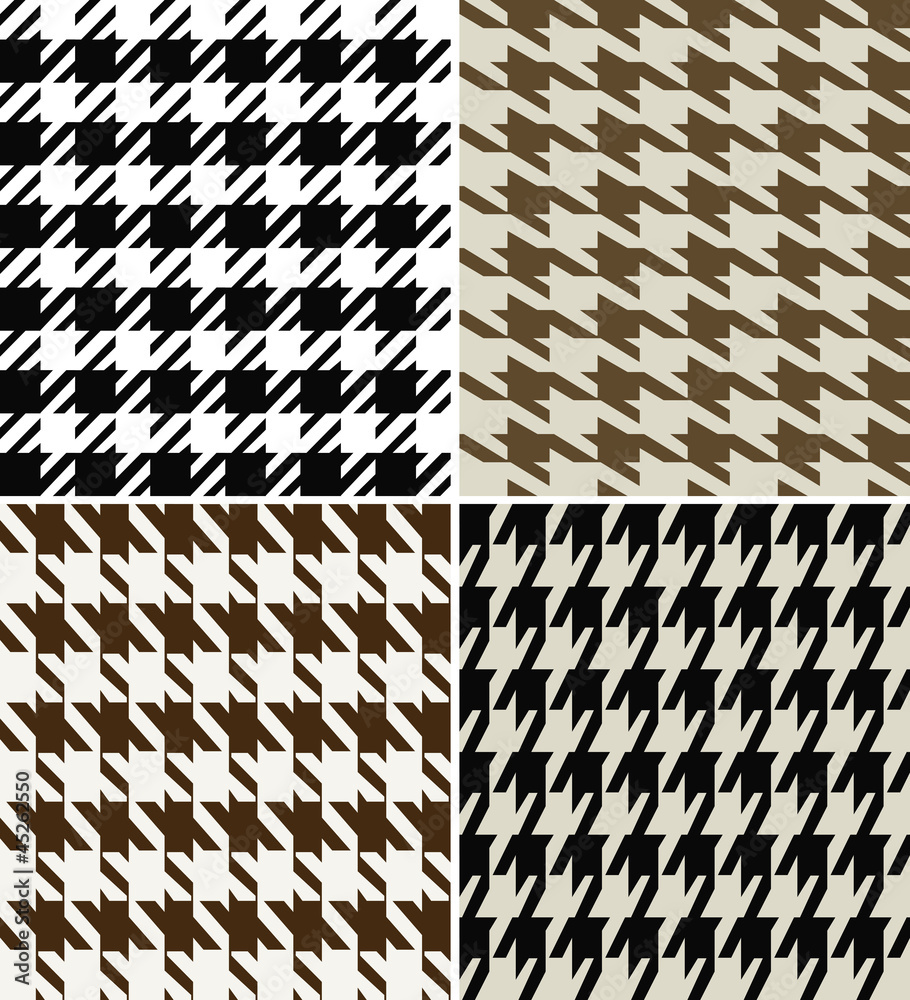 Photo  Wool Houndstooth Fabric