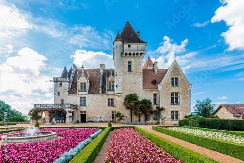 Chateau des milandes Canvas Print