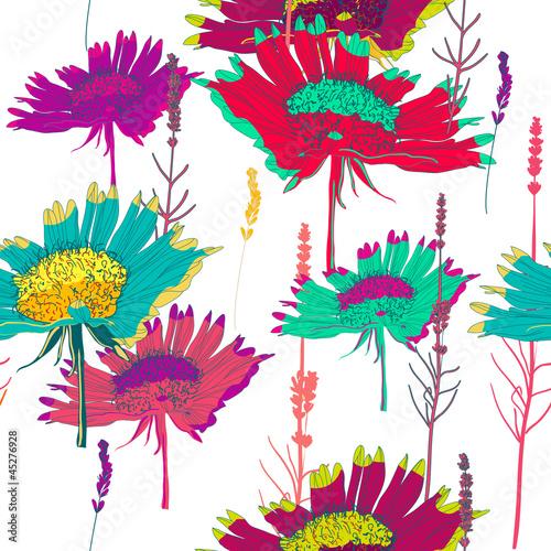 Keuken foto achterwand Abstract bloemen seamless vector texture