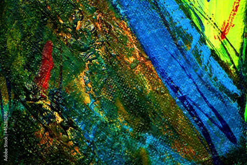 abstract chaotic painting by oil on canvas, illustration, backgr