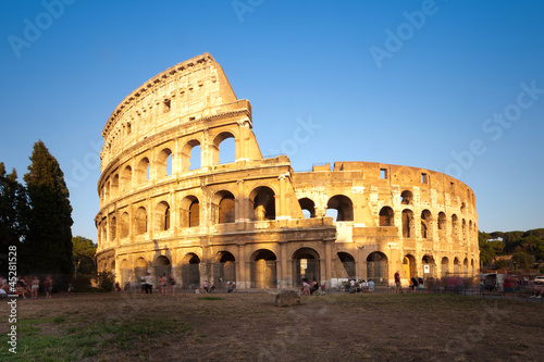 Fototapety, obrazy: Colosseum at sunset, Rome, Italy