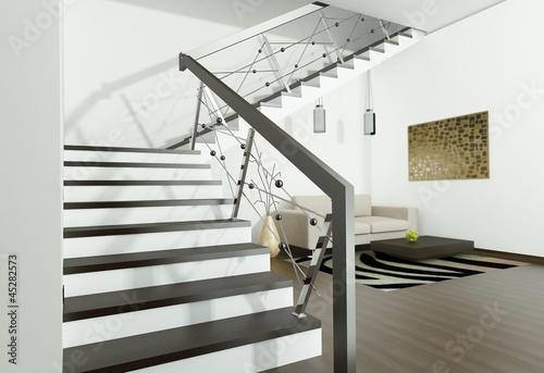 Photo Stands Stairs интерьер с лестницей