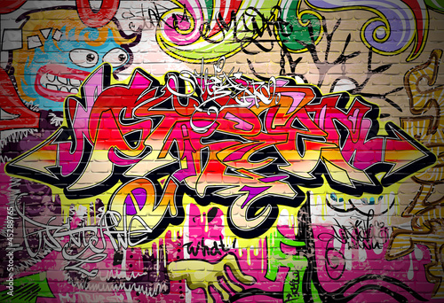 Graffiti Art Vector Background Poster