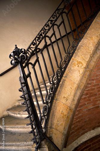 Photo Stands Stairs Escalier, maison, intérieur, architecture, rampe, fer forgé