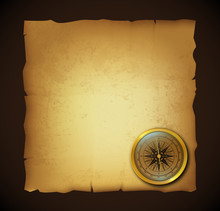 Old Paperwith Compass