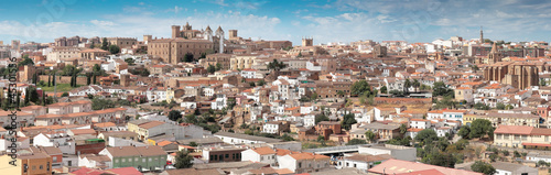 Daytime panorama of Caceres