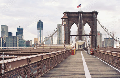 Keuken foto achterwand Bruggen Brooklyn Bridge in New York City.