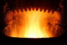 Fire In Furnace.