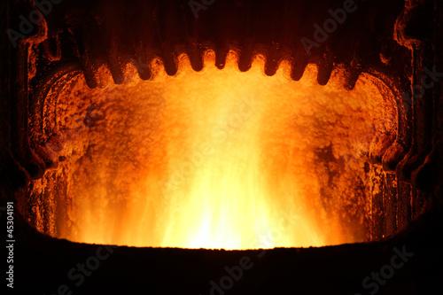 Fototapeta Fire in furnace.