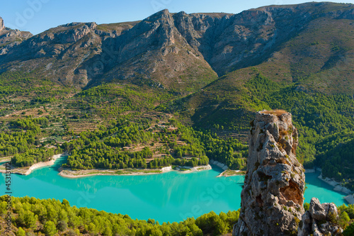 Photo Guadalest dam in Alicante.