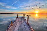 Fototapeta Nature - nubes en el agua