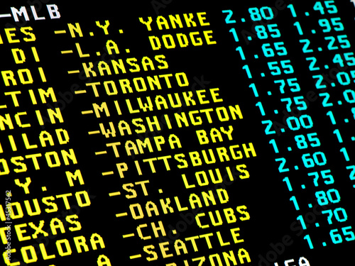 Photo Baseball betting