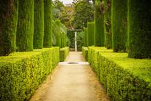 Garden Of The Poets In Alcazar, Sevilla