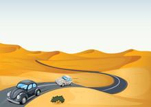 Cars In A Desert
