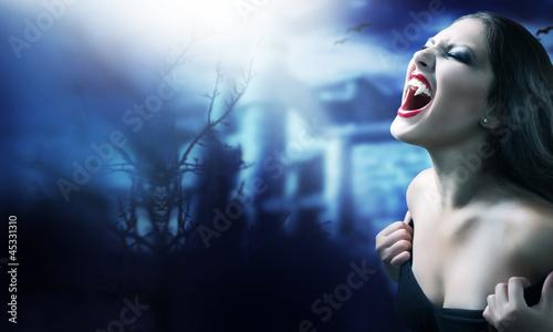 Fotobehang Volle maan Vampire