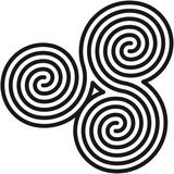 Celtic double spirals labyrinth (Labyrinth keltische Spiralen)