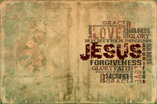 Religious Words On Grunge Back...
