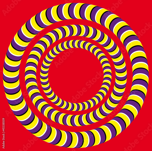 Spoed Foto op Canvas Psychedelic Rotation (Optical illusion)