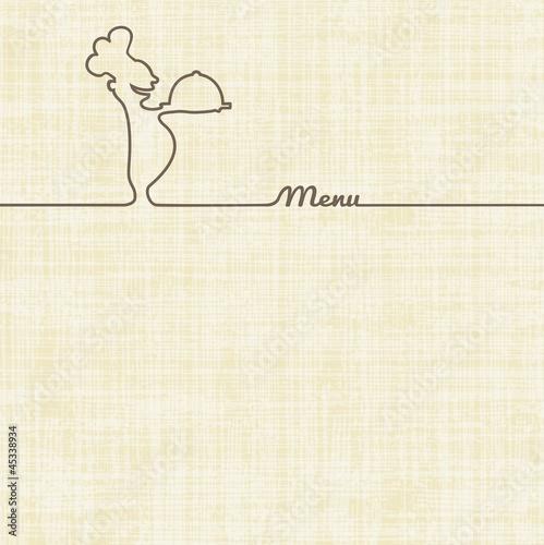 Fotografie, Obraz  Menu Restaurant