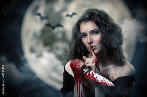 Fotobehang Volle maan Halloween day