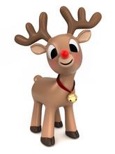 3d Render Of A Christmas Reindeer