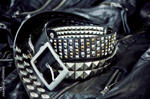 Fototapeta Stylish rock accessories