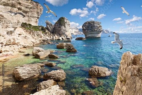 Foto-Rollo - falaises de Bonifacio, Corse (von Unclesam)