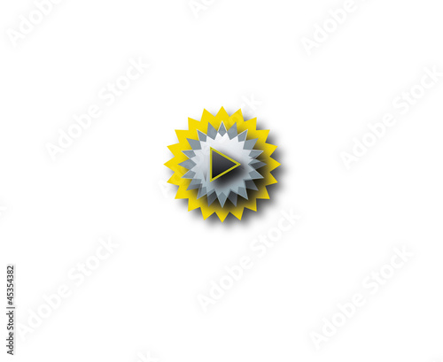 yellow and gray button Wallpaper Mural