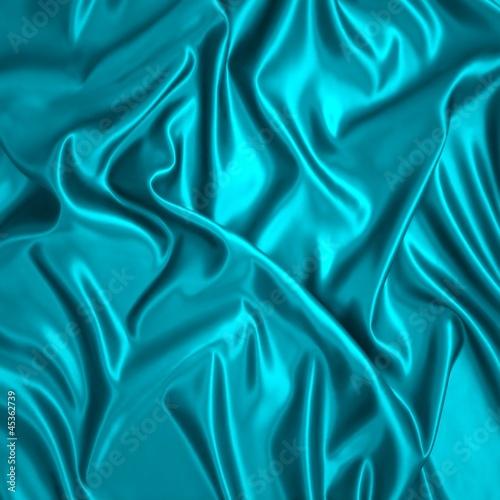zielony-jedwabny-material-z-faldami